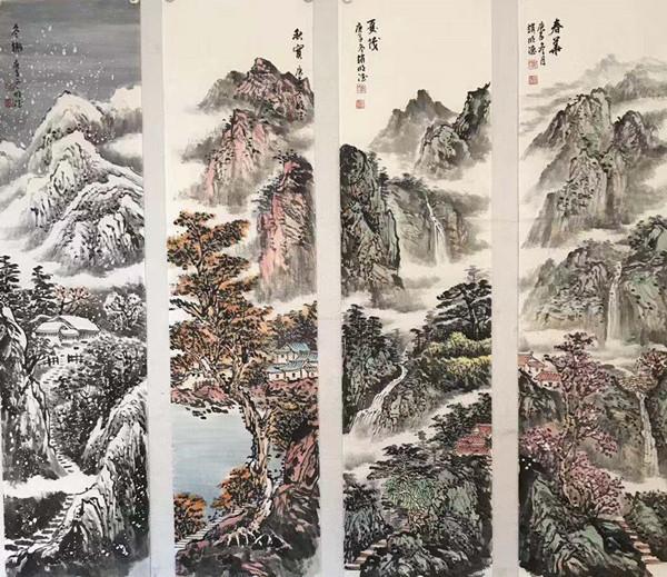 当代山水画家赵明德作品欣赏